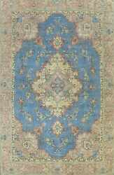 Floral Semi-antique Traditional Area Rug Hand-knotted Oriental Wool Carpet 9x12