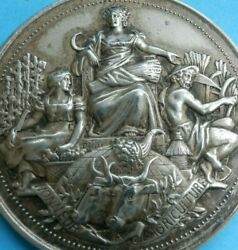 1898 Louis Bottee French Medal Engraving Agriculture Comice Agricole Cattle Farm