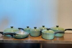 Vintage Green 9pc Club Cookware Set