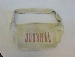 Vintage 1960s Journal Newspaper Paperboy Canvas Delivery Bag
