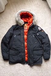 Parajumpers Right Hand Masterlight Jacket Black Mens Size Large