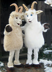 Cute White Sheep Mascot Costume Suits Cosplay Party Clothing Advertising Adults