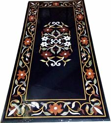 4and039x2and039 Marble Dining Coffee Corner Center Inlay Table Top Antique Mosaic O140