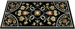3and039x2and039 Marble Table Top Antique Mosaic Dining Coffee Corner Center Inlay O152