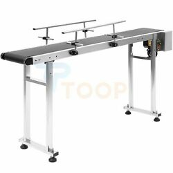 59and039and039x 7.9and039and039 Belt Conveyor Machine With Stainless Steel Double Guardrail