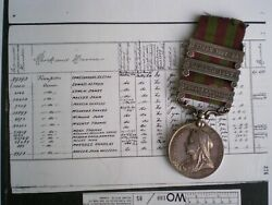 1895 India General Service Medal To Gunner Mcmahon Indian Mountain Battery R.a