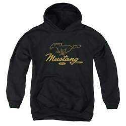 Ford Pony Script - Youth Hoodie
