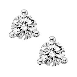 3/4 Ct. Tw. Diamond April Birthstone Solitaire Earrings In 14k White Gold