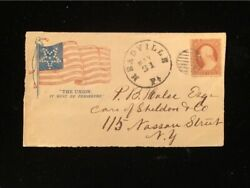 Pa Meadville Civil War Patriotic Cover 26 Illus Flag