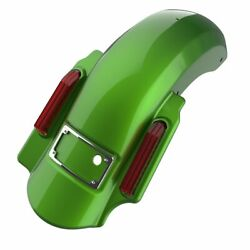 Radioactive Green 2 Into 1 Dominator Stretched Rear Fender For 2014+ Harley