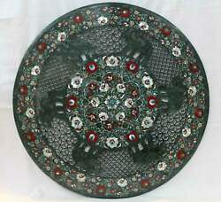 2and039x2and039 Marble Table Top Center Coffee Home Decor Inlay Pietra Dura Antique G22
