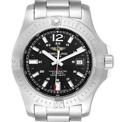 Breitling Colt Black Dial Automatic Steel Mens Watch A17388 Box Card