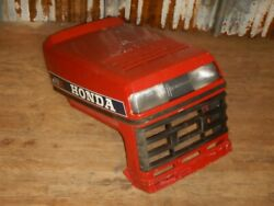 Honda Ht 3813 Lawn Tractor Mower Hood Metal Assembly With Lights And Grill