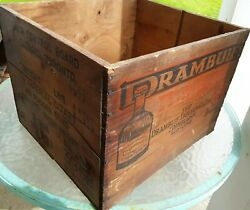 Drambuie Wood Crate Knots Vtg Liquor Control Board Ontario Frost And Fodder
