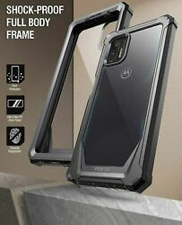 For Moto G Stylus 2021 Case Full Body Hard Cover With Screen Protector Black
