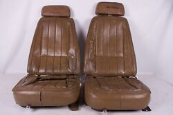 1969 Corvette Original Pair Of Seats Correct With Head Rests And Slider Tracks