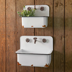 SINK WALL PLANTERS SET OF TWO by CTW