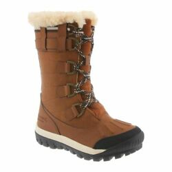Bearpaw Womenand039s Desdemona Genuine Sheepskin Lined Lace-up Boots Size 10 Hickory