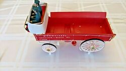 Nos Budweiser Clydesdale Carousel Wagon With Drivers New Old Stock