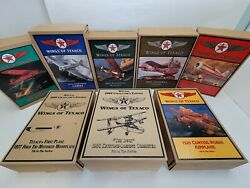 Wings Of Texaco Set Of 8 2000 Special Collectors Edition Diecast Airplanes Banks