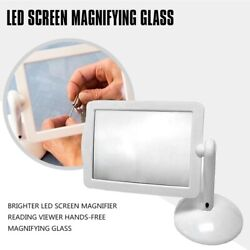 50xbrighter Led Screen Magnifier Reading Viewer Hands-free Magnifying Glass