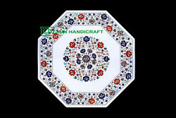 24and039and039 Marble Table Top Inlay Pietra Dura Home Antique Coffee Dining Decor W38