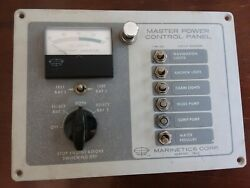 Marinetics Master Power Control Panel Dc For Dual Battery Model 708h/1