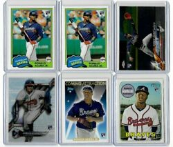 Ronald Acuna Jr. 12 Card Rookie Rc Lot - Topps Chrome Heritage Bowmanand039s Best