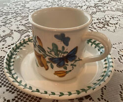 Portmeirion Botanic Garden Drum Coffee Cup And Saucer Old Stamp