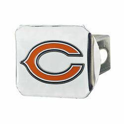 Chicago Bears Heavy Duty Chrome Metal Hitch Cover With 3d Color Emblem