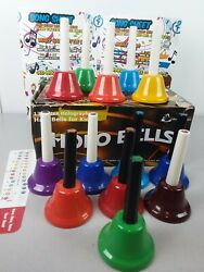 Set Of 13 Holo Bells Holographic Educational Handbells For Kids In Box