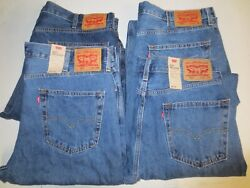 New Leviand039s 550 Menand039s Relaxed Blue Jeans 36x34 38x34 40x30 Or 42x30