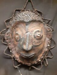 Vintage Ceremonial Turtle Shell Mask From Papua New Guinea. Sepik River