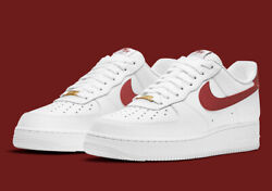 Nike Air Force 1 And03907 White Team Red Cz0326-100 Menand039s Shoes New