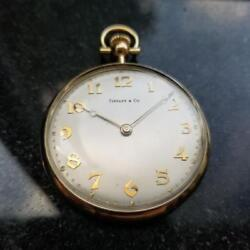 And Co Rare Solid 18k Gold Pocketwatch 1980s Comor Movement Swiss Ms219