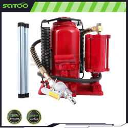 Pneumatic Air Hydraulic Bottle Jack With Manual Hand Pump 20 Ton 40000 Lb
