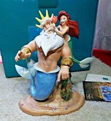 Le Wdcc Ariel And King Triton Morning Daddy The Little Mermaid Coa And Box Porcelain