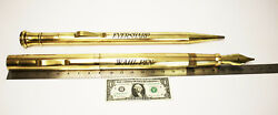 Giant Vintage Wahl Eversharp Brass Fountain Pen And Mechanical Pencil Display