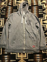 Under Armour X Roots Of Fight X Mike Tyson Full Zip Hoodie Gray Menand039s M Boxing