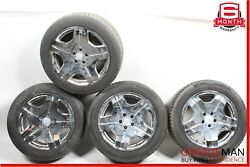 07-09 Mercedes W216 Cl600 Complete Staggered 8.5x9.5 Wheel Rim Tire Set Of 4 R18