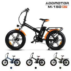 750w 48v16ah Battery Electric Bike Addmotor M-150 R7 Front Suspension Bicycle