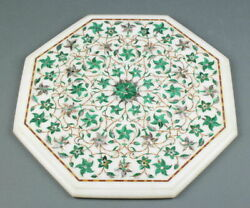 2and039x2and039 Table Marble Inlay Top Pietra Dura Garden Antique Coffee Dining Decor W92