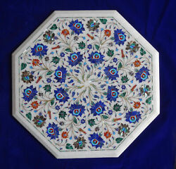2and039x2and039 Table Marble Inlay Top Pietra Dura Garden Antique Coffee Dining Decor W93