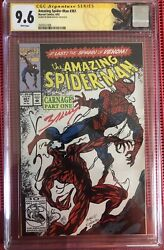 Amazing Spiderman 361 Cgc 9.6 Ss Mark Bagley 1st Appearance Of Carnage 1st Print