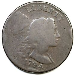 1794 S-20b R-4 Head Of 93 Liberty Cap Large Cent Coin 1c