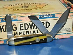1995 Bulldog Brand Germany Coon Stripe Celluloid Cattle King 3 Blade Knife