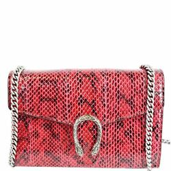 Dionysus Mini Leather Crossbody Chain Wallet Red 401231