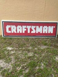 Huge Vintage Sears Craftsman Lighted Sign From Closed Sears Store - 3' X 8'