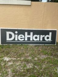 Huge Vintage Sears Diehard Lighted Sign From Closed Sears Store - 3' X 8'
