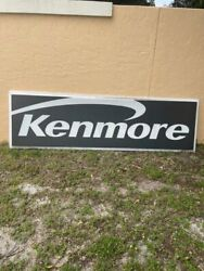Huge Vintage Sears Kenmore Lighted Sign From Closed Sears Store - 3and039 X 8and039